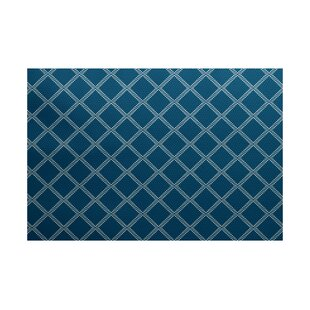 Bernadette Geometric Blue Indoor/Outdoor Area Rug