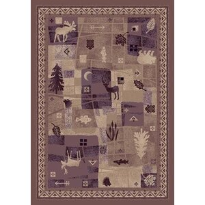 Signature Deer Trail Light Amethyst Area Rug
