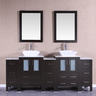Rushmore 84 Double Bathroom Vanity Set with Mirror by Bosconi