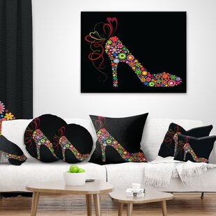 Superbe Abstract Colorful Shoe With A Bow Pillow
