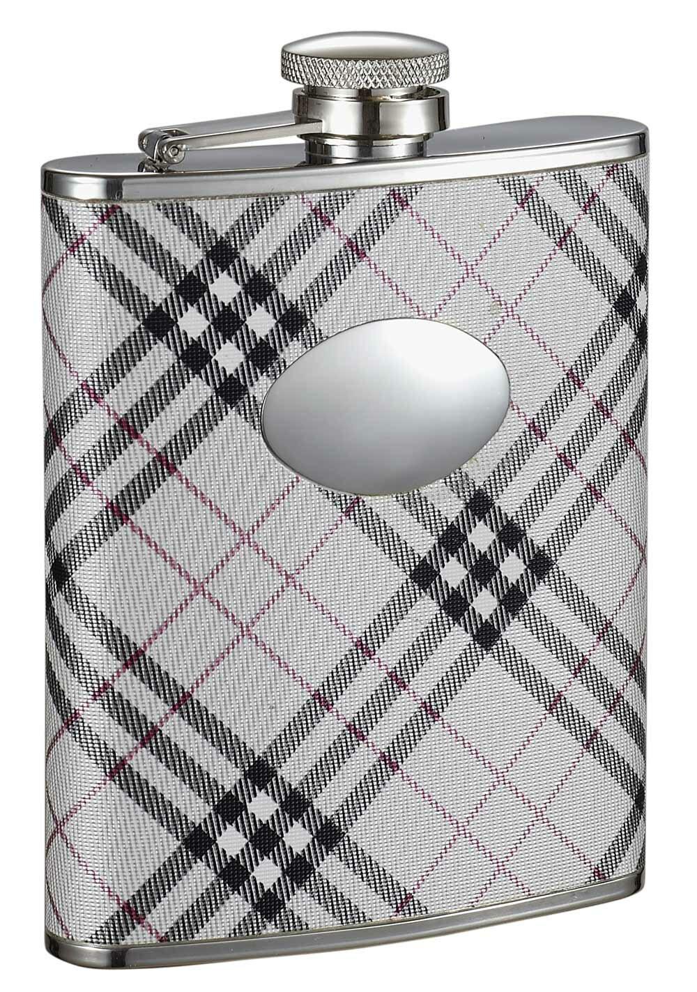 Visol Products Plaid Leatherette Stellar Hip Flask Wayfair