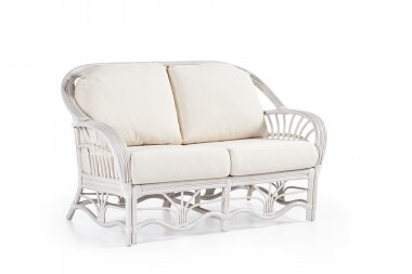 Bay Isle Home Strachan Loveseat Upholstery: Sachi Pool, Finish: White
