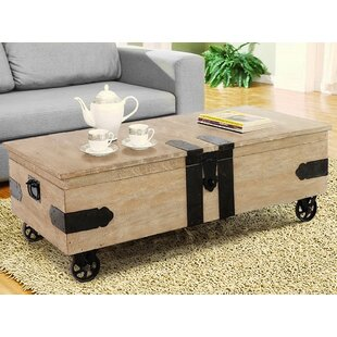 Utility Trunk Coffee Table With Storage Casual Elements