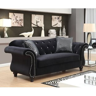Rosdorf Park Javon Chesterfield Loveseat