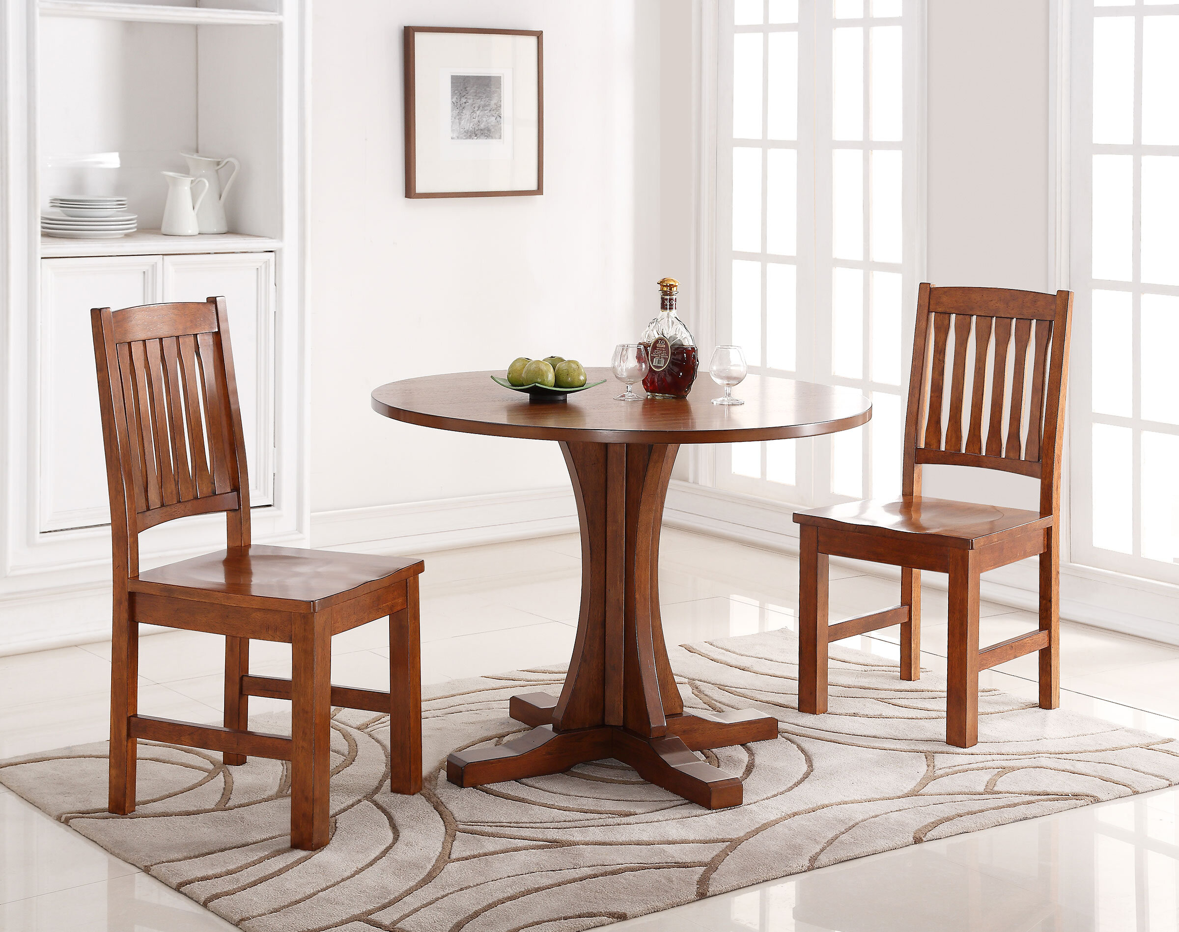 42 Inches Rustic Farmhouse Round Dining Tables You Ll Love In 2021 Wayfair