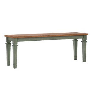 August Grove Dykstra Wood Bench