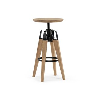 Christine Adjustable Height Bar Stool 17 Stories