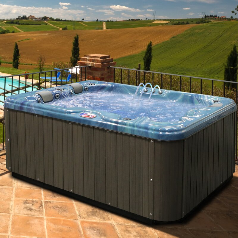 American Spas AM 534LP Three Person Hot Tub Spa With Bluetooth System