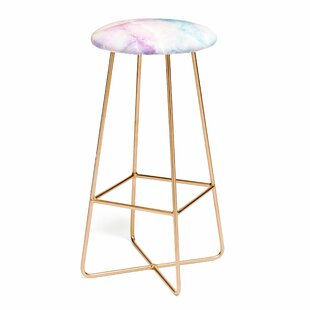 Emanuela Carratoni Iridescent Marble 25 Bar Stool East Urban Home