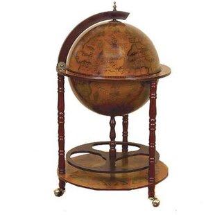 Charlton Home Stricker Antique Reproduction Sixteenth-Century Italian Old World Globe Mini Bar