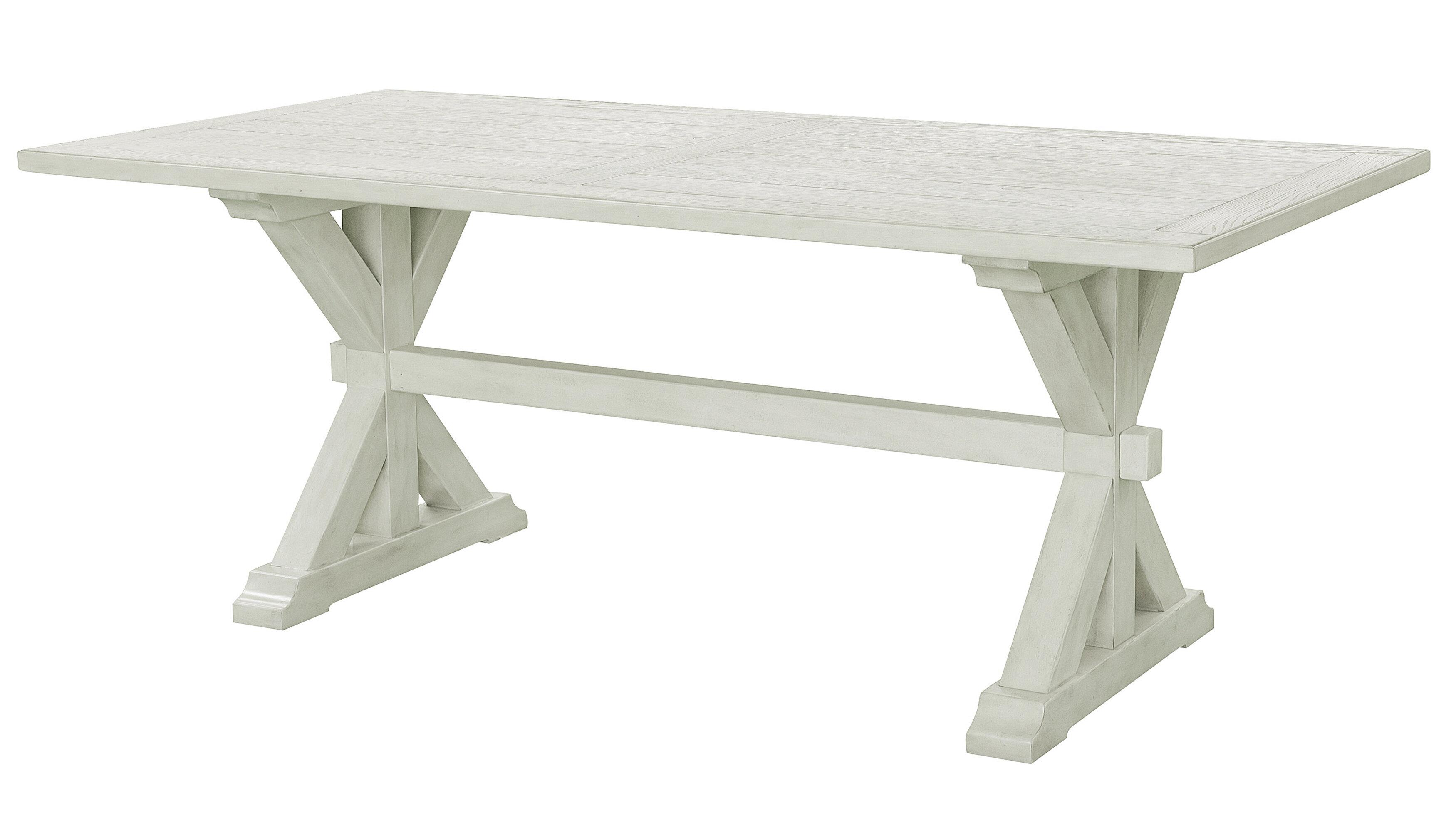 Gracie Oaks Eldert 38 Solid Oak Trestle Dining Table Reviews