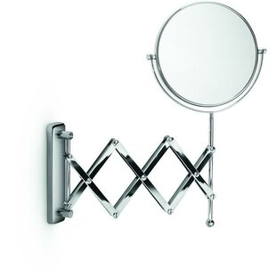 Best Huneycutt Double-Sided Extendable Makeup/Shaving Mirror By Alcott Hill