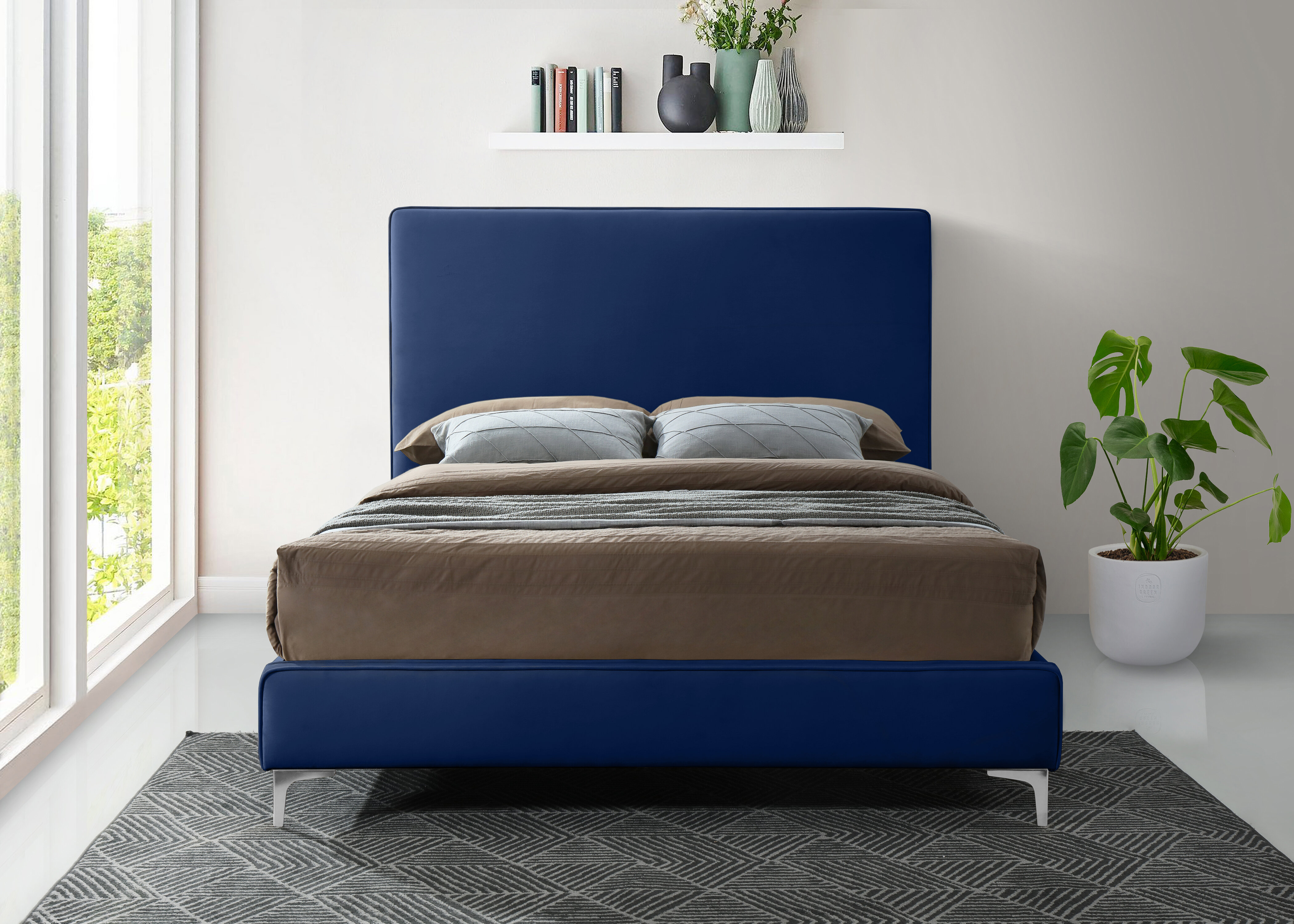 Everly Quinn Eisenman Upholstered Low Profile Platform Bed Wayfair