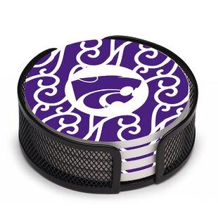 5 Piece Kansas State University Swirls Collegiate Coaster Gift Set By Thirstystone