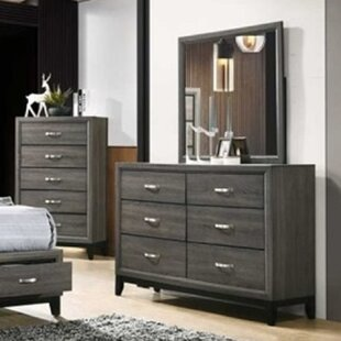 Lauria 6 Drawer Double Dresser with Mirror by Ivy Bronx