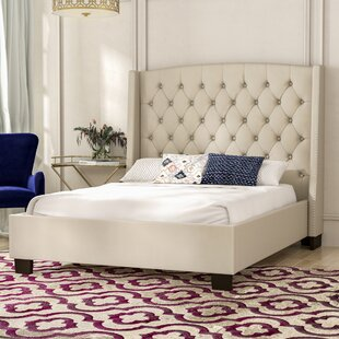 Majestic Tufted Upholstered Panel Bed by Diamond Sofa