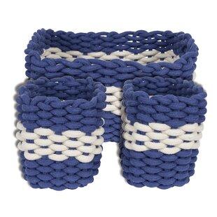 3 Piece Rope Basket Set By Breakwater Bay