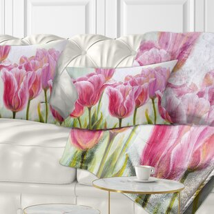 Floral Tulips Lumbar Pillow