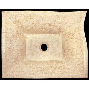Polaris Sinks Egyptian Marble Specialty Specialty Vessel Bathroom Sink