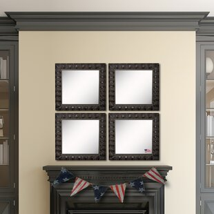 Affordable Derrik Feathered Accent Wall Mirror (Set of 4) By Astoria Grand