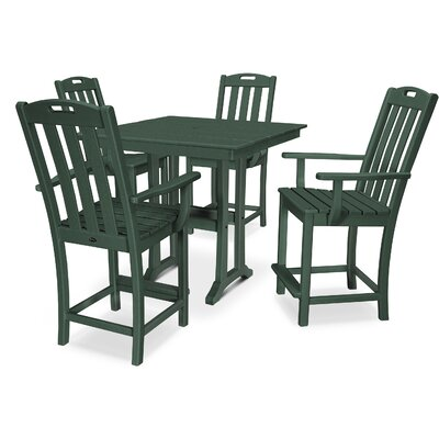 Trex Outdoor Yacht Club 5 Piece Dining Set Colour: Rainforest Canopy
