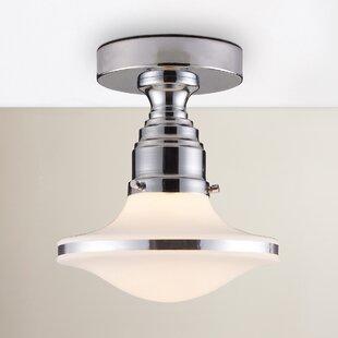 Heatherly 1-Light Semi Flush Mount by Brayden Studio