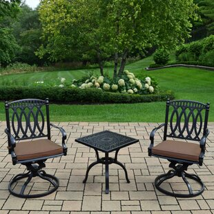Lostant 3 Piece Sunbrella Conversation Set with Cushions
