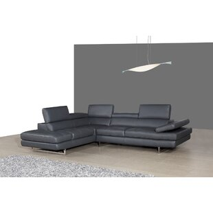 Kamila Leather Sectional by Orren Ellis Spacial Price