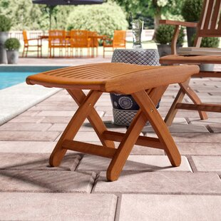 Beachcrest Home Joaquin Folding Patio Ottoman