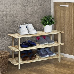 Read Reviews 3-Tier 9 Pair Shoe Rack By Rebrilliant