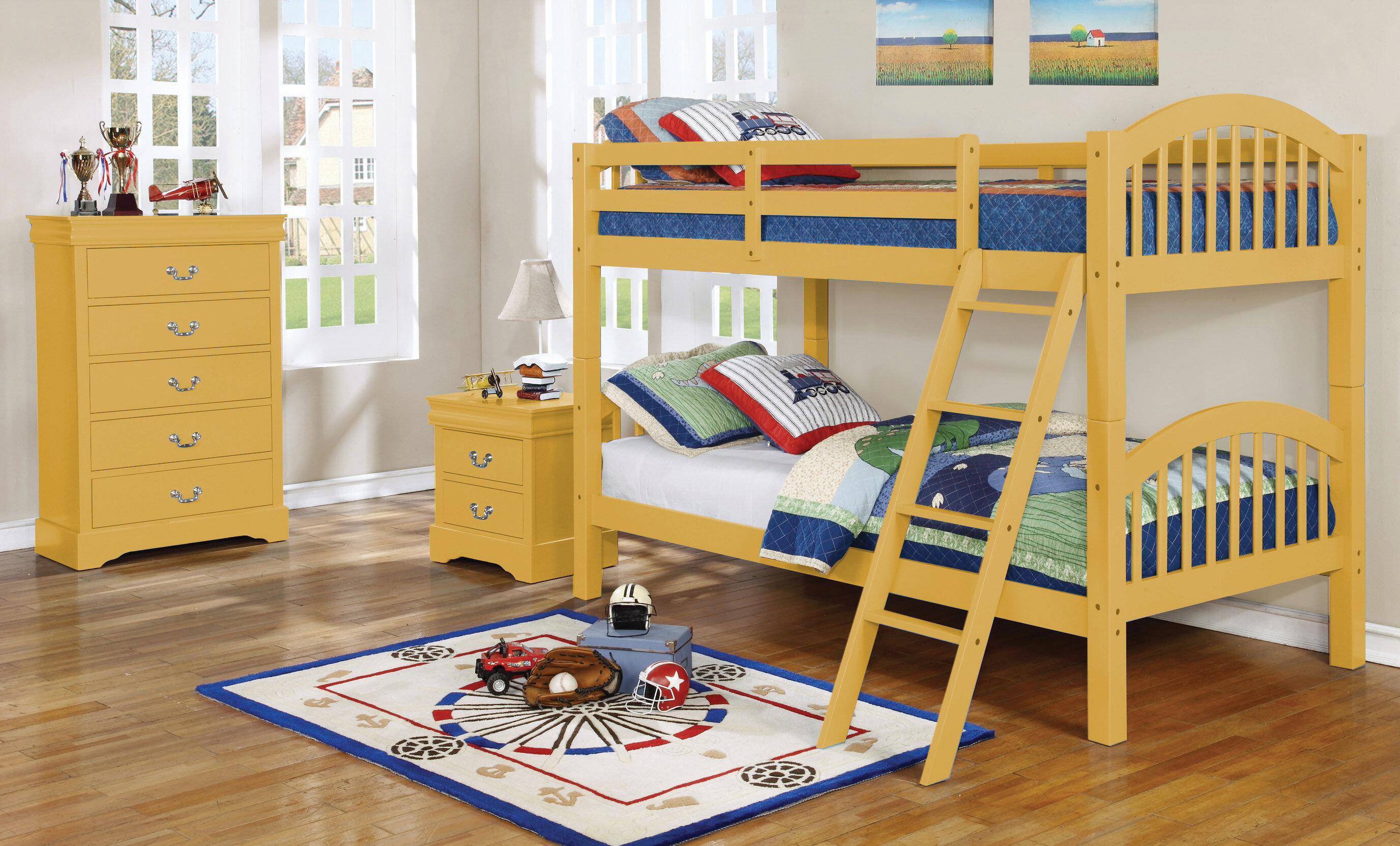 harriet bee akron 2 drawer nightstand in yellow nncd1235