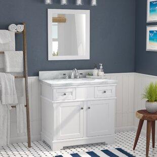 Rhine Solid Wood 37 Single Bathroom Vanity Set with Mirror by Laurel Foundry Modern Farmhouse