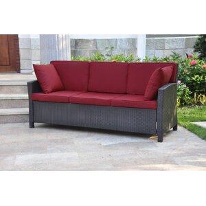 Binney Wicker Resin Sofa with Cushions