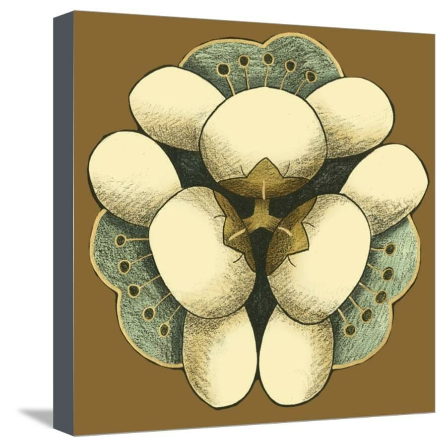 Room 365 \'Small Floral Mandala on Caramel I\' Graphic Art Print on ...