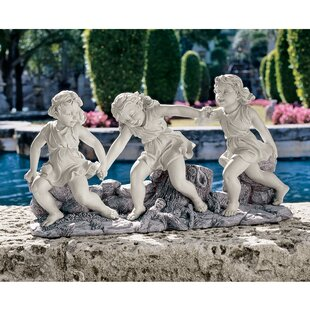 Design Toscano Ring Around The Rosie Dancing Little Girls Statue