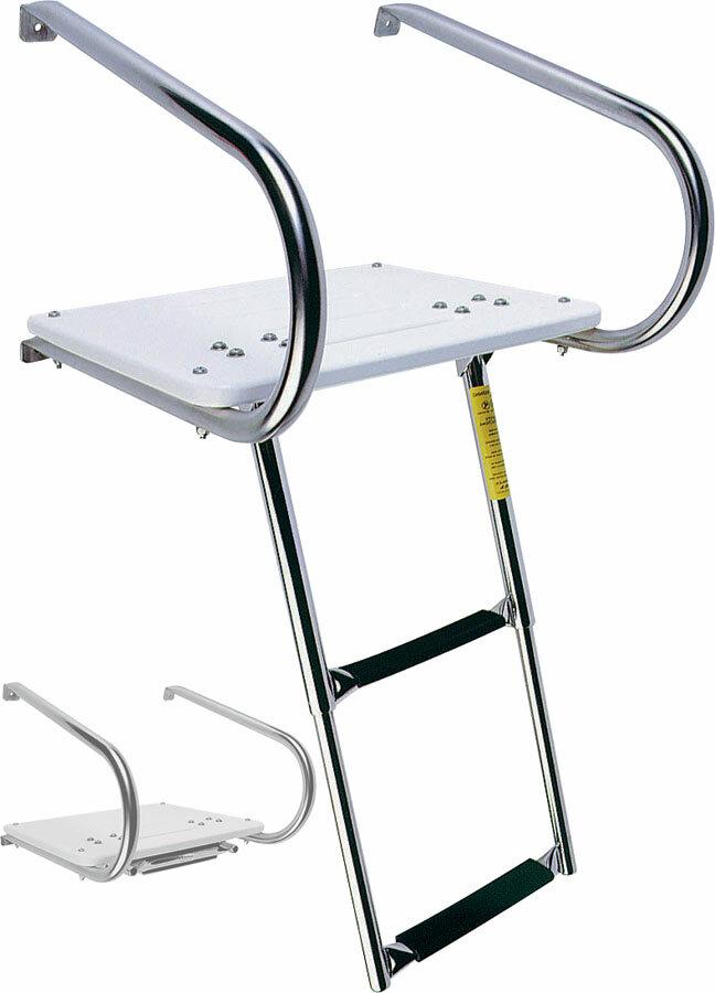 Garelick Mfg Company 1 6 Ft Steel I O Swim Platform Step Ladder Wayfair