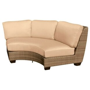 Saddleback Curved Armless Sectional Piece with Cushions