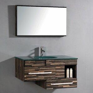 Pinova 40 Single Bathroom Vanity Set With Mirror