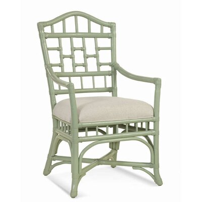 Chippendale Dining Chair Upholstery Color: Cream Chevron; 0861-91, Frame Color: Linen