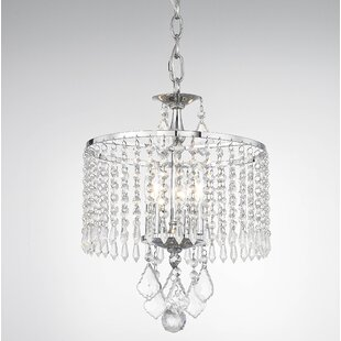 3-Light Crystal Chandelier by House of Hampton