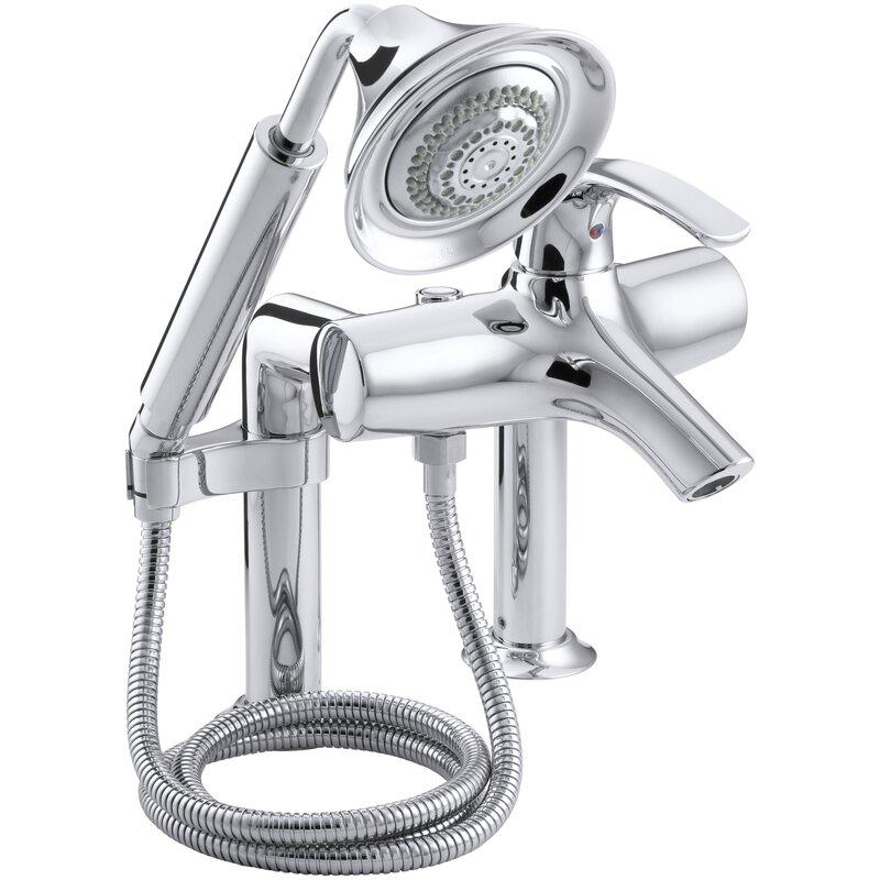 Kohler Symbol Deck-Mount Bath Faucet with Diverter Spout and ...