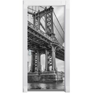 Manhattan Bridge New York Door Sticker By East Urban Home