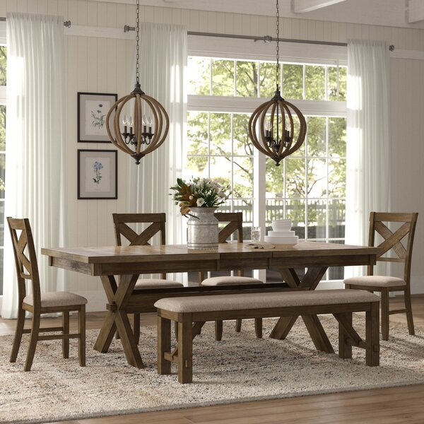 3 Piece Timber Bench Dining Setting