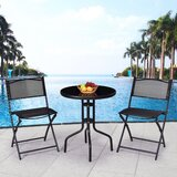 Guitain Outdoor 3 Piece Bistro Set
