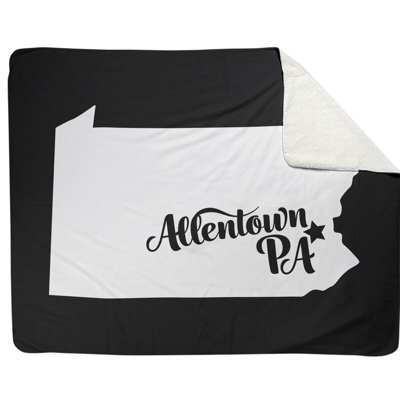 East Urban Home Allentown Pennsylvania Fleece Throw Wayfair