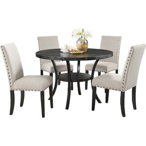 Biony Espresso 5 Piece Dining Set by Roun..