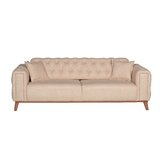 Burge Full 90.5 Tufted Back Convertible Sofa by Everly Quinn