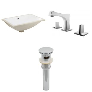 Compare Ceramic Rectangular Undermount Bathroom Sink with Faucet and Overflow By Royal Purple Bath Kitchen