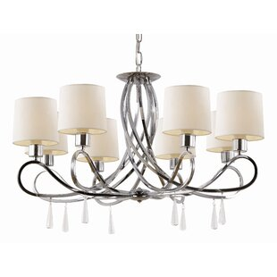 Huldah 8-Light Shaded Chandelier by House of Hampton
