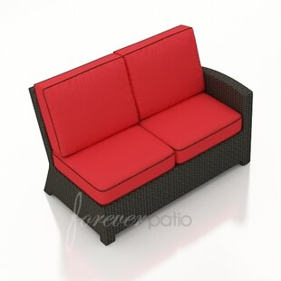 Barbados Right Arm Facing Sectional Loveseat with Cushions by Forever Patio